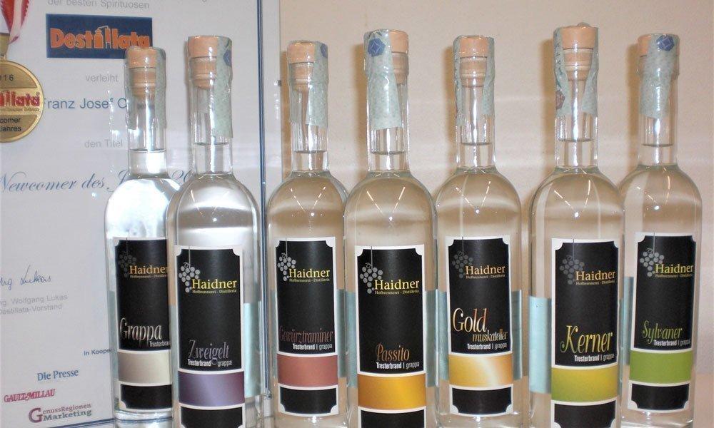 Distillati di alta qualità dell'Alto Adige